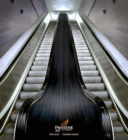 pantene Ads on escalators