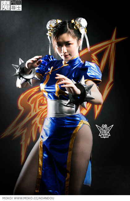 beautiful asian in chun li cosplay 03