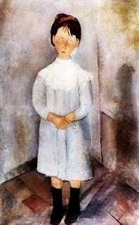 Fillette en bleu, Modigliani