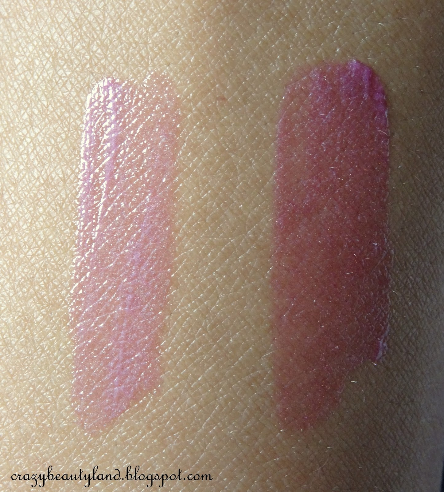 Review of L'Oreal Paris Shine Caresse Lip Color in the shade 603 Milady. Dupe of YSL Glossy Stains. Swatches of Milady
