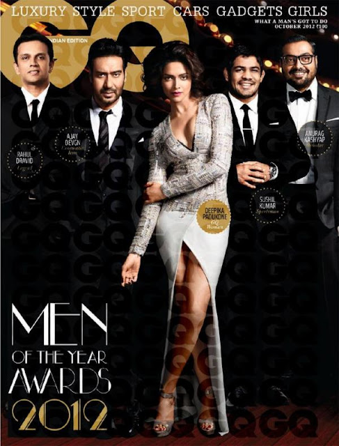 Ajay, Deepika, Anurag, Sushil and Rahul on the cover of GQ India magazine