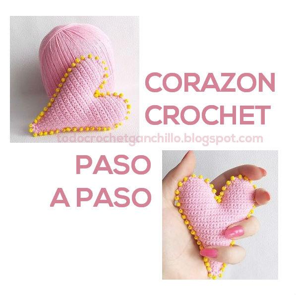Corazón Crochet 3D / Paso a paso | Todo crochet