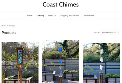 Screenshot of Coast Chimes Website page