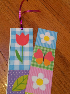 embellishment on diy bookmark