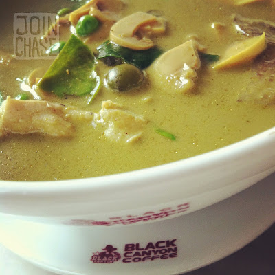 Chicken Green Curry at Black Canyon Coffee in Yangon, Myanmar.