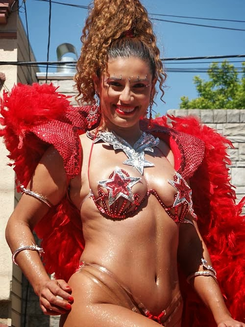 Woman with carnival costume