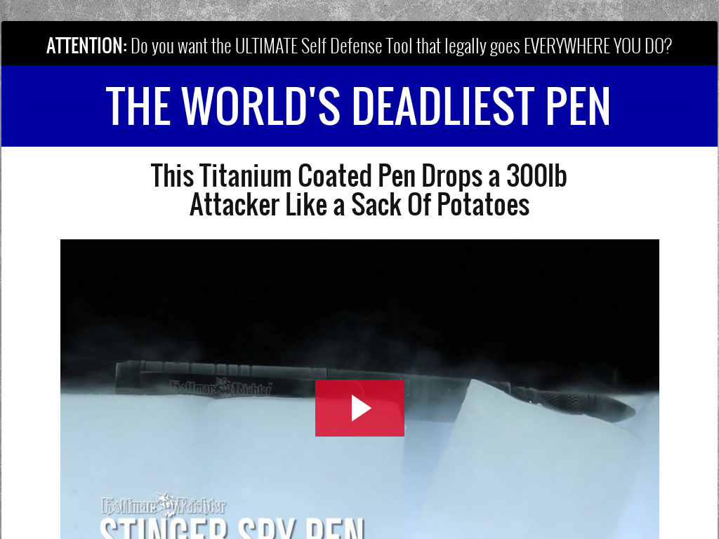 Stinger Self-defense Tactical Pen - Survival Life
