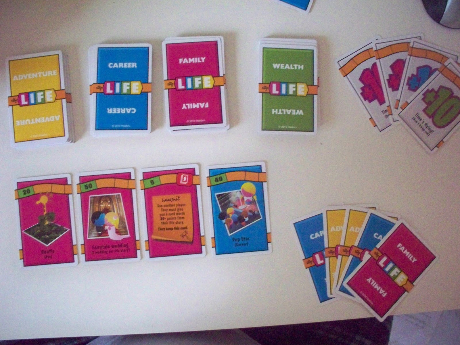game of life cards pdf