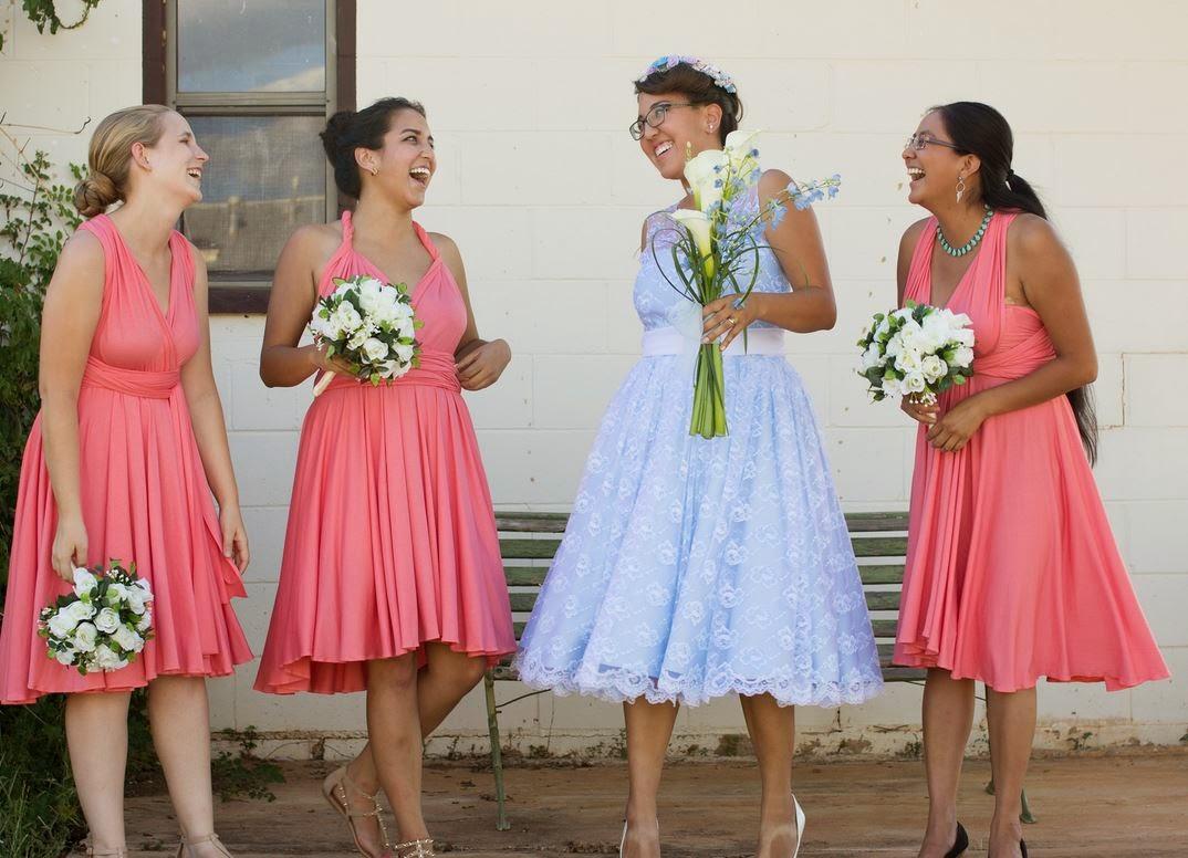 infinity dress bridesmaids fun