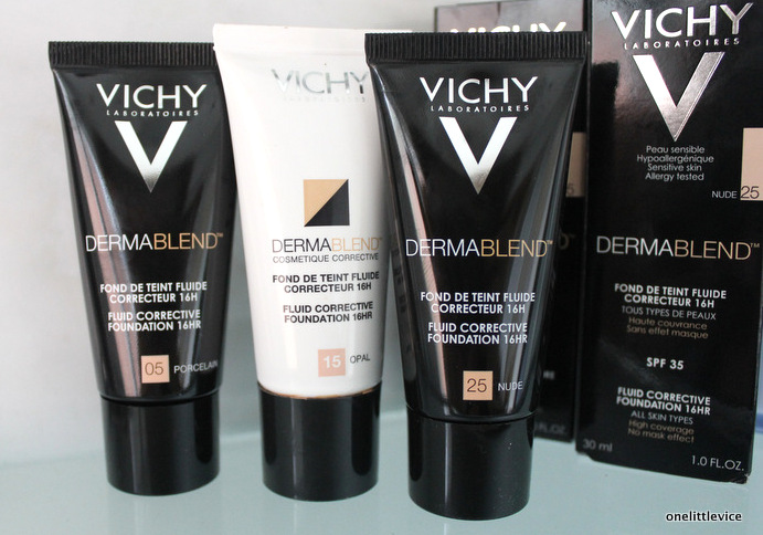 Vichy Dermablend Foundation In 05 Porcelain 15 Opal 25 Nude