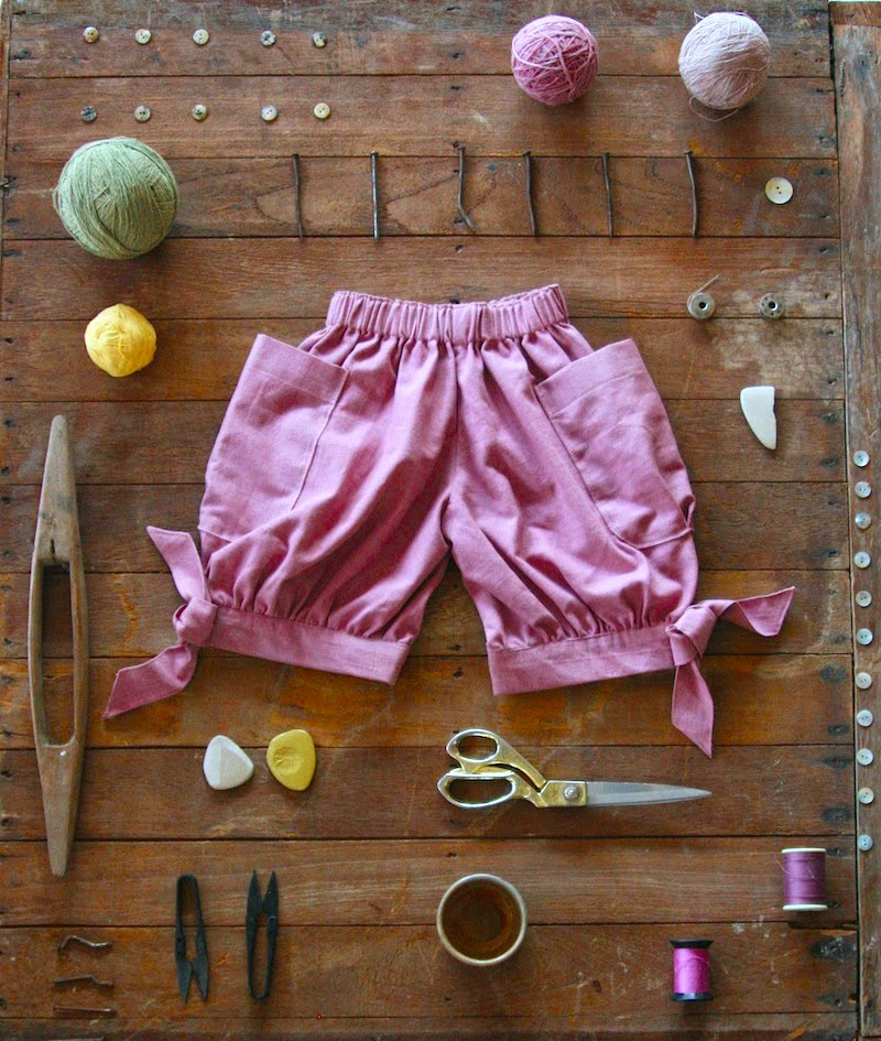 Shorts with big pockets by Vermilio - Ethical and sustainable kids clothes