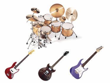 intrumentos musica rock: