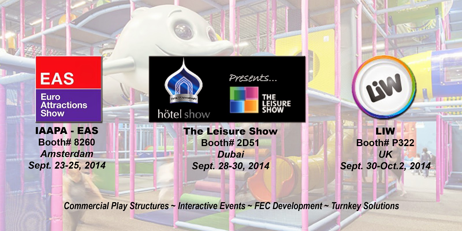 #Iplayco #IAAPA #EAS2014 #IAAPAHQ #LIW #TheLeisureShow IAAPA: International Association of Amusement Parks and Attractions #LIW2014 #LeisureShow #IAAPAEurope IAAPAEurope