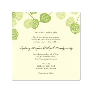 Modelos de convites simples de casamento