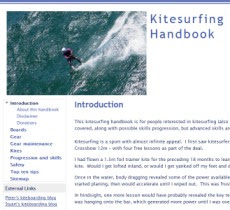 Kitesurfing handbook