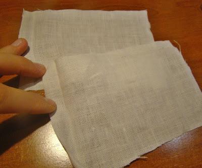 Trozo de tela para practicar cosiendo