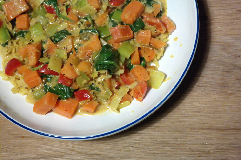 Cooking for a (Pregnant) Vegetarian - Curry
