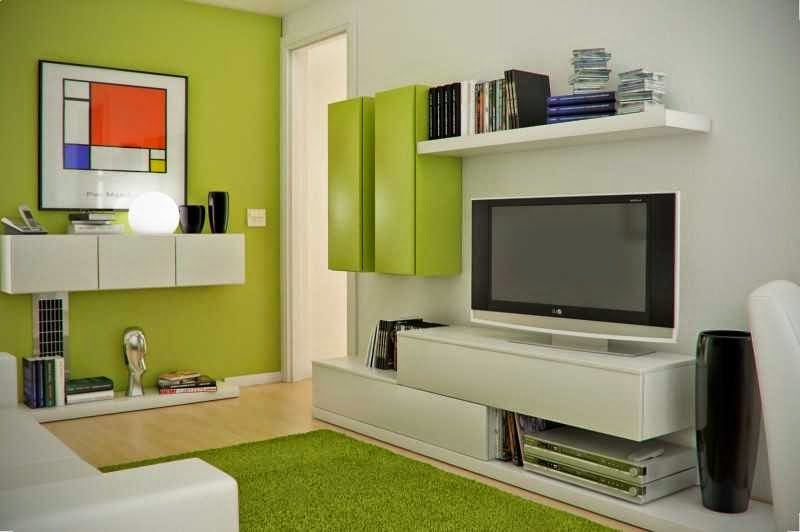 Kombinasi Cat Interior Ruang Keluarga Rumah Minimalis