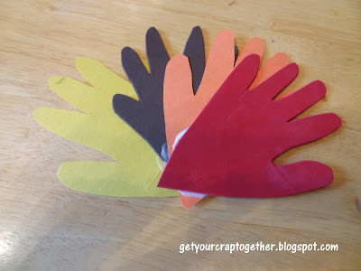 Scrap Fabric Turkey Craft