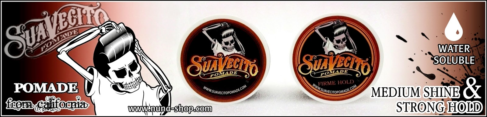 Suavecito Pomade - Strong Hold & Medium Shine Original USA