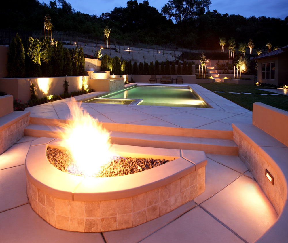 using an outdoor fire pit in your backyard home interior