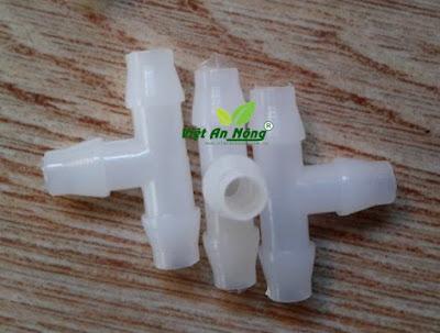 Chữ tê chia ống dẻo 5mm màu trắng