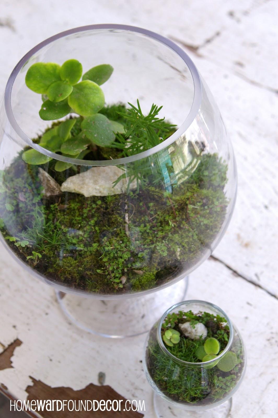 how to make a free moss terrarium homewardfound decor. Black Bedroom Furniture Sets. Home Design Ideas