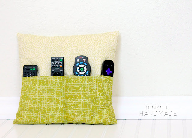 Want a way to hide those pesky remote controls? This clever pillow keeps those remote controls out of site, but right at hand. Sew one for yourself with this tutorial from Make It Handmade.