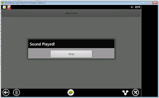 Media player start stop android
