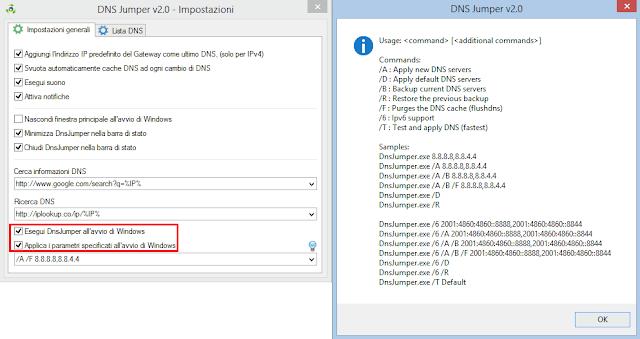 DNS Jumper 2.0 comandi automatici