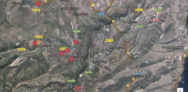 cierre accesos Fuegos san Lorenzo 2015, Gran Canaria