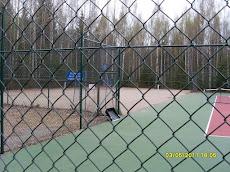 Kesällä Kaupisssa tennistä metsän keskellä
