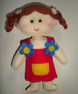 Cara membuat boneka lucu dari kain flanel dengan mudah