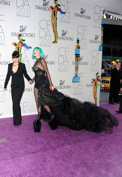 lady gaga 2011 cfda. Lady Gaga attends the 2011