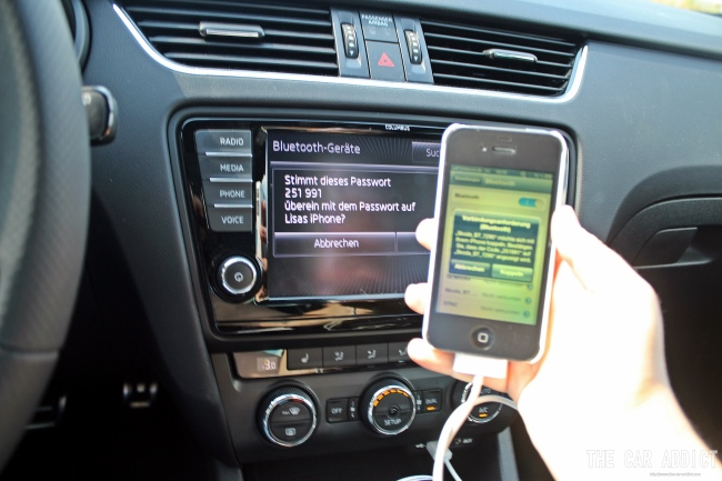 Connect your iPhone with the Skoda Octavia RS
