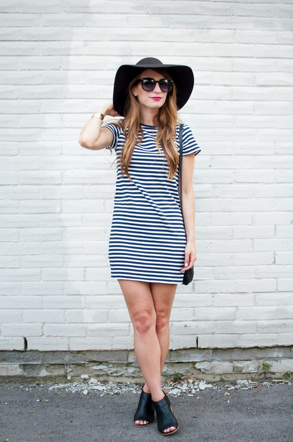 striped t shirt ootd