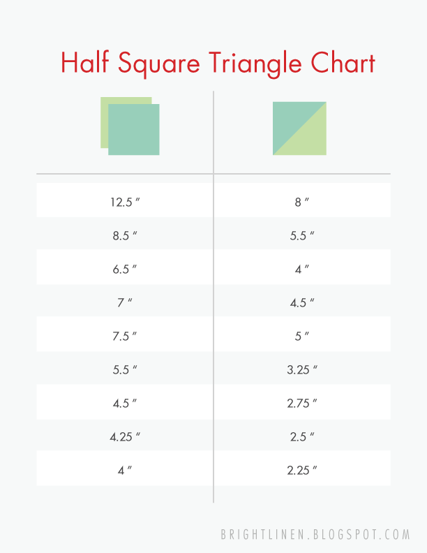 Half Square Triangle Chart