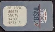 BSNL sim card puk number serial PIN number reset