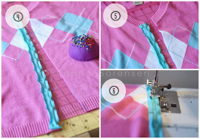 Refashion tutorial turn your sweater into a cardigan