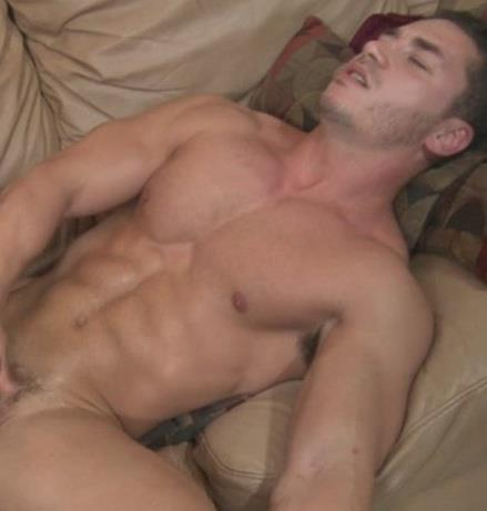 Hunky Guy Masturbating