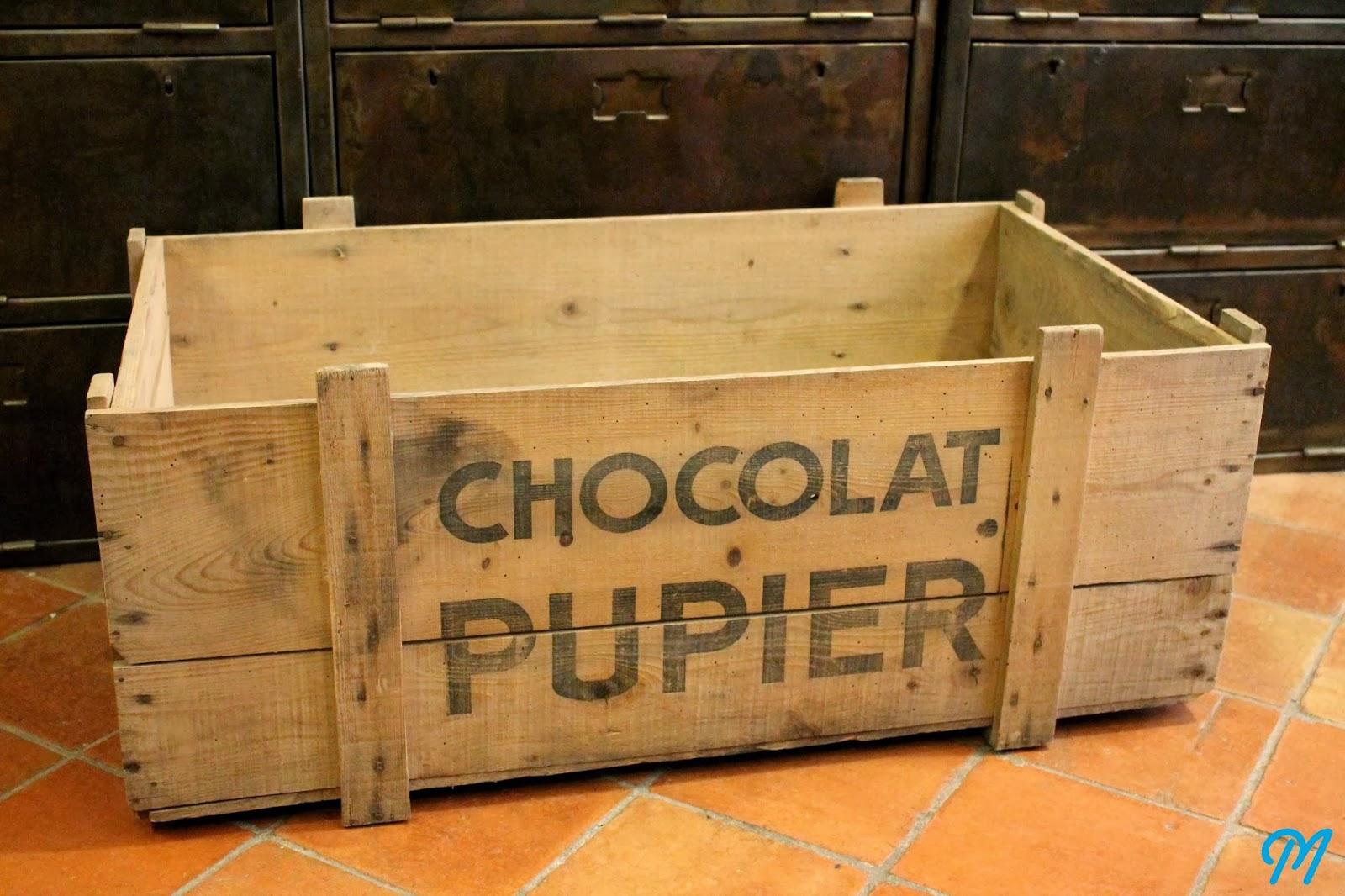 Arrivage de caisses en bois publicitaires marinette - Caisse en bois ancienne ...