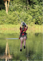 Zipline over the Pigeon River in Tennessee