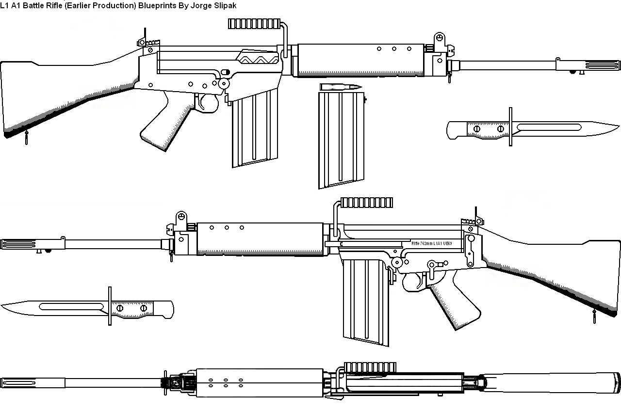 The l1 a1 infantry rifle blueprints malvernweather Image collections