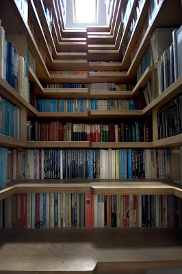 London flat staircase library