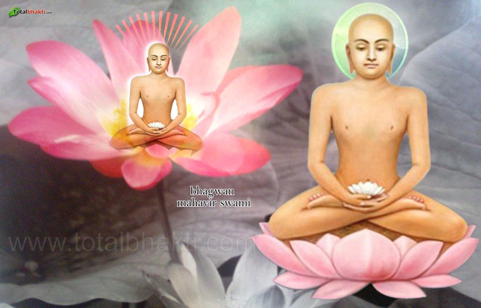 Mahavir Bhagwan February Hindu Calendar White Pink Color Full