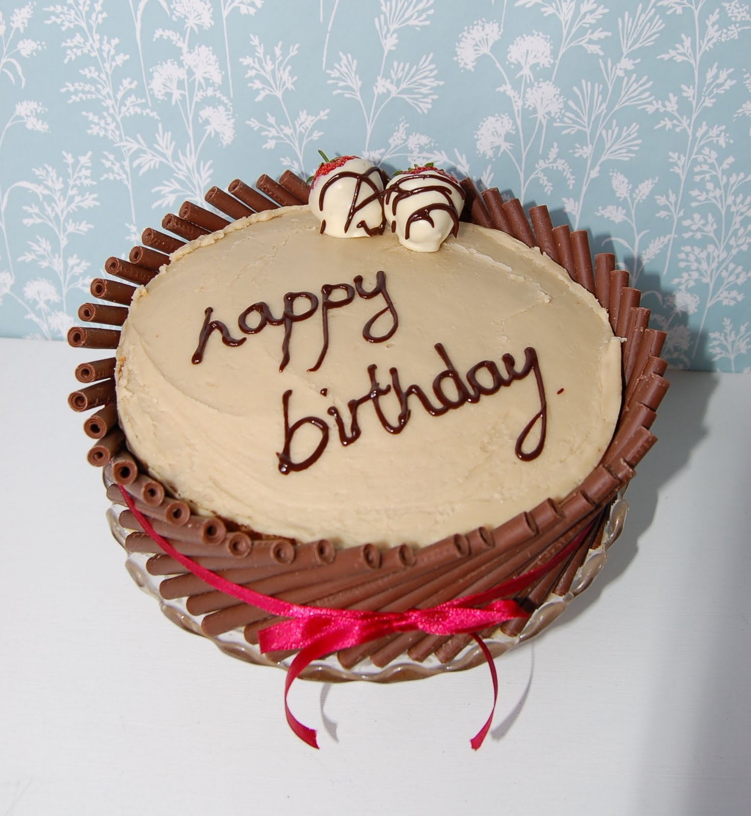 Brighton Baker Chocolate Cigarello Fudge Cake Happy Birthday Dad X