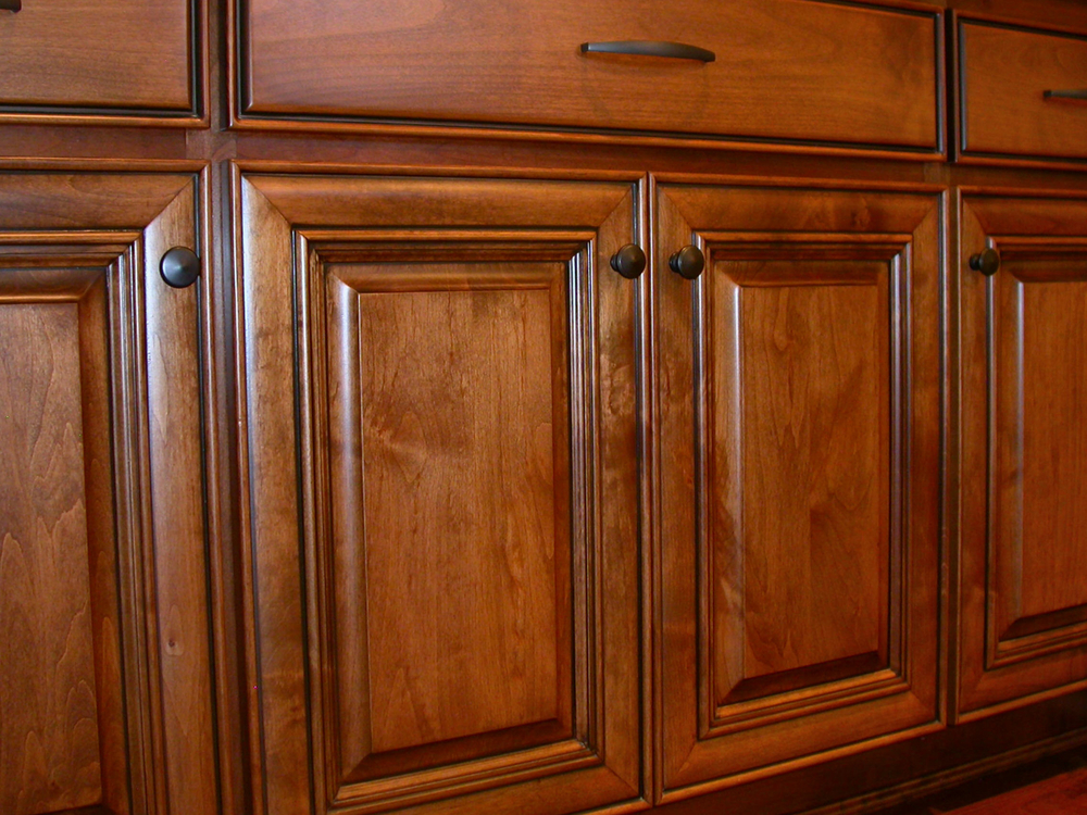 Brown Kitchen Cabinets Big Island