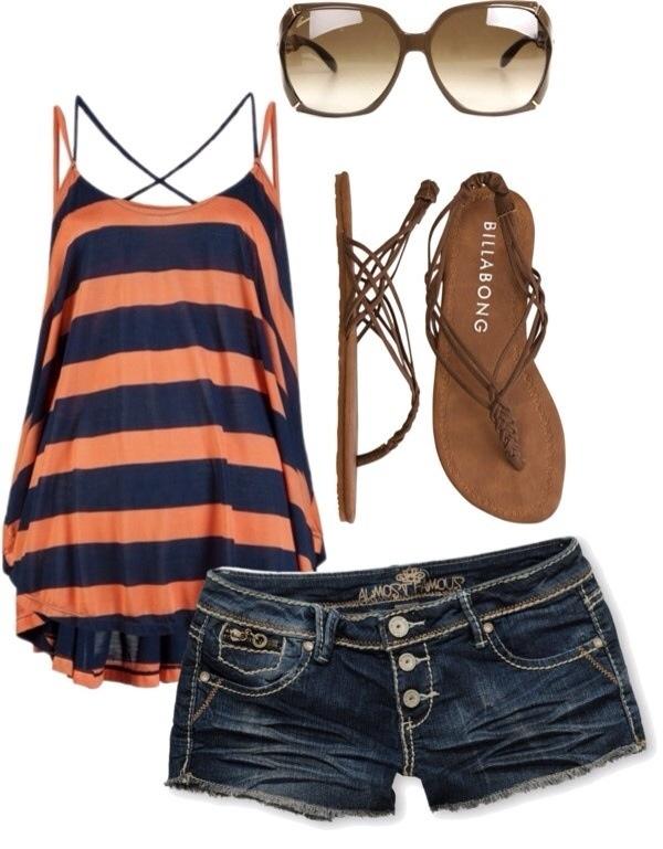 Stylish Combination For Summer