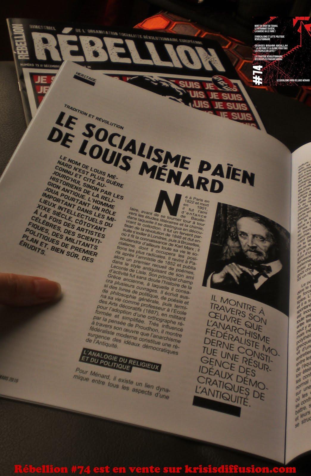 LE SOCIALISME PAÏEN DE LOUIS MENARD