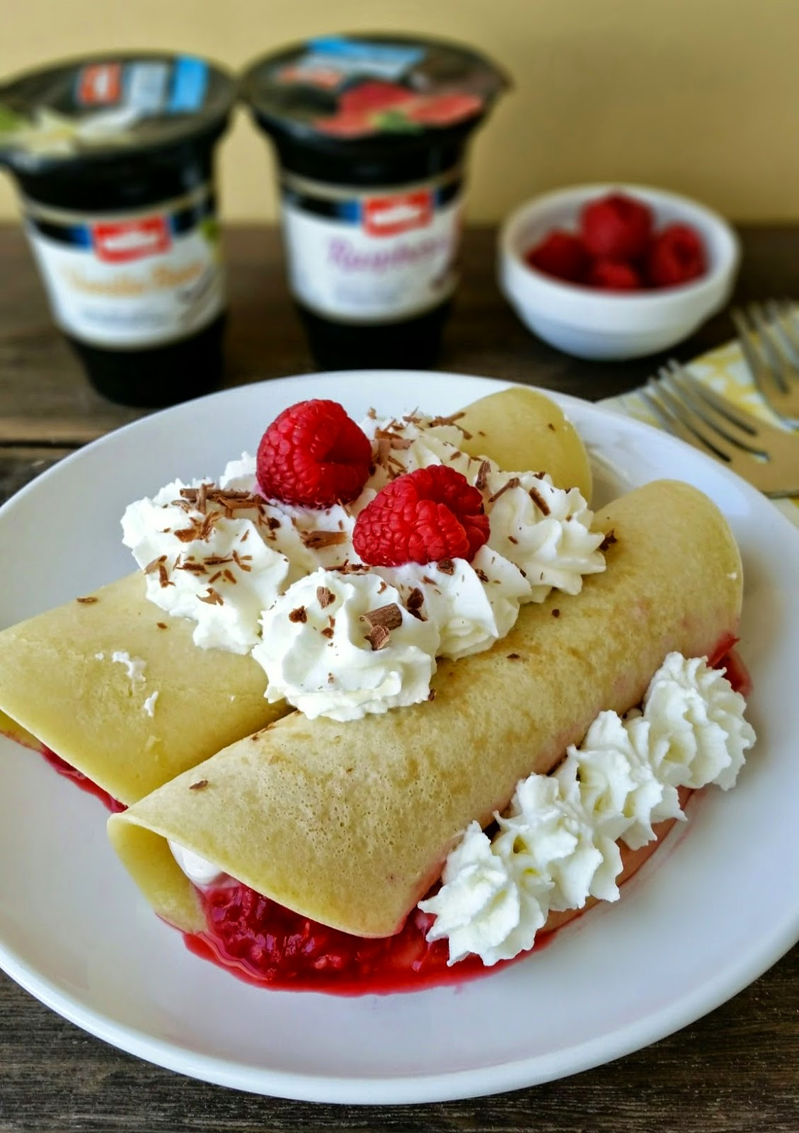 Fruit & Yogurt Filled Crepes. Recipes from Three Kids and a Fish